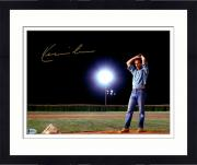 "Framed Kevin Costner Autographed 11"" x 14"" Field of Dreams - Pitching in Blue Jeans Photograph - Beckett COA"