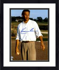 "Framed Kevin Costner Autographed 11"" x 14"" Field of Dreams - Standing with Baseball in Hand Photograph - Beckett COA"