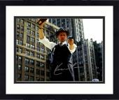 """Framed Kevin Costner Autographed 11"""" x 14"""" The Untouchables - With Gun and Police Badge Photograph - Beckett COA"""