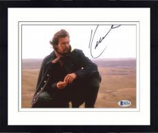"Framed Kevin Costner Autographed 8"" x 10"" Dances with Wolves Kneeling in Desert Photograph - Beckett COA"