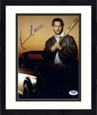 "Framed Kevin Costner Autographed 8""x 10"" Field of Dreams Holding Bat Photograph -  PSA/DNA COA"
