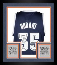 Framed Kevin Durant Oklahoma City Thunder Autographed Authentic Alternate Blue Jersey