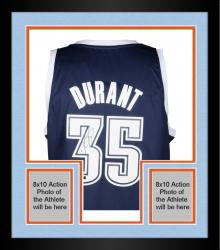 Framed Kevin Durant Oklahoma City Thunder Autographed Replica Alternate Blue Jersey