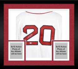 Framed Kevin Youkilis Boston Red Sox Autographed White Replica Jersey