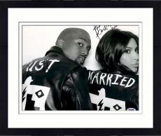 "Framed Kim Kardashian & Kanye West Autographed 11"" x 14"" Black & White Photograph - PSA/DNA"