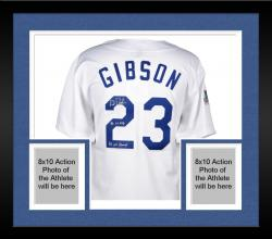 """Framed Kirk Gibson Los Angeles Dodgers Autographed White Mitchell & Ness Jersey with """"1988 NL MVP & 1988 WS Champs"""" Inscription"""