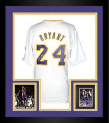 Framed Kobe Bryant Autographed Jersey - 2013 adidas Swingman Christmas