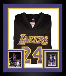 Framed Kobe Bryant Los Angeles Lakers Autographed Jersey with Black Mamba Inscription - Limited Edition of 24