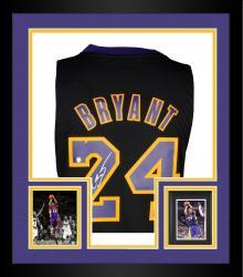 Framed Kobe Bryant Signed Jersey - adidas Swingman Hollywood Nights