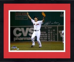 "Framed Koji Uehara Boston Red Sox Autographed 16"" x 20"" World Series Celebration Green Monster Photograph"