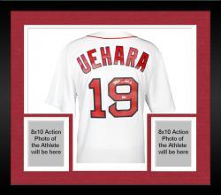 Framed Koji Uehara Boston Red Sox Autographed Replica White Jersey