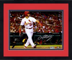 """Framed Kolten Wong St. Louis Cardinals Autographed 8"""" x 10"""" Standing and Watching Home Run Photograph"""