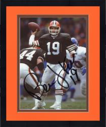 Framed Bernie Kosar Cleveland Browns Fanatics Authentic Autographed 8'' x 10'' vs. Denver Broncos Throw Photograph