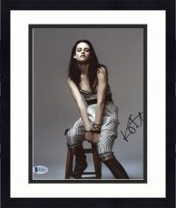 "Framed Kristen Stewart Autographed 8"" x 10"" Posing On Chair Photograph - Beckett COA"