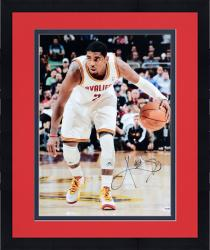 "Framed Kyrie Irving Cleveland Cavaliers Autographed 16"" x 20"" Dribbling Photograph"