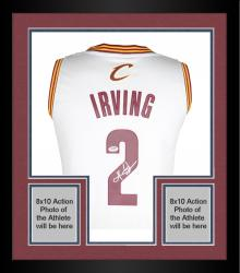 Framed Kyrie Irving Cleveland Cavaliers Autographed Swingman Jersey