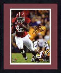 Framed LACY, EDDIE AUTO (ALABAMA/RUN VS LSU) 8X10 PHOTO - Mounted Memories