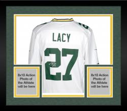 Framed Eddie Lacy Autographed Packers Game Jersey
