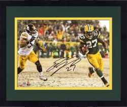 Framed LACY, EDDIE AUTO (PACKERS/RUN VS STEELERS HORZ) 8X10 PHOTO - Mounted Memories
