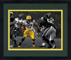 Framed LACY, EDDIE AUTO (PACKERS/SPOTLIGHT/RUN VS BEARS) 11X14 - Mounted Memories