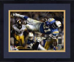 "Framed LaDainian Tomlinson San Diego Chargers Autographed 8"" x 10"" In Air Photograph"