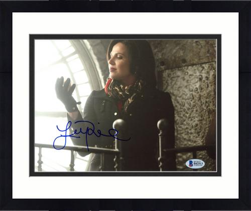 """Framed Lana Parrilla Autographed 8"""" x 10"""" Once Upon a Time Photograph - Beckett COA"""