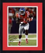 "Framed Laquon Treadwell Ole Miss Rebels Autographed 8"" x 10"" Red Running Photograph"