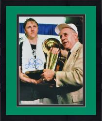 "Framed Larry Bird Boston Celtics Autographed 16"" x 20"" Receiving Trophy Photograph"