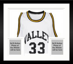Framed Larry Bird Spring Valley High School Autographed White Jersey