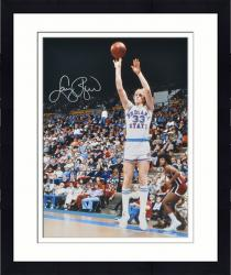 "Framed Larry Bird Indiana State Sycamores Autographed 16"" x 20"" Jump Shot Photograph"