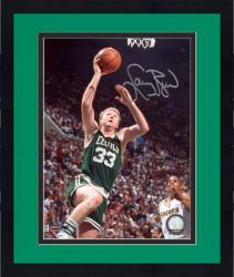 "Framed Larry Bird Boston Celtics Autographed 8"" x 10"" vs. Indiana Pacers Photograph"