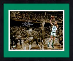 "Framed Larry Bird Boston Celtics Autographed 11"" x 14"" Spotlight Photograph"