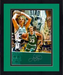 "Framed Larry Bird Boston Celtics Autographed 16"" x 20"" Collage Photograph"