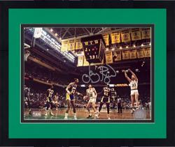 "Framed Larry Bird Boston Celtics Autographed 8"" x 10"" Jumper Photograph"