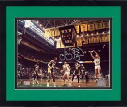 "Framed Larry Bird Boston Celtics Autographed 8"" x 10"" Jumper Photograph"
