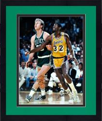 Framed Larry Bird & Magic Johnson Autographed 16'' x 20'' Photograph