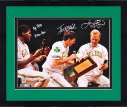 Framed Larry Bird, Robert Parrish & Kevin McHale Boston Celtics Autographed 16'' x 20'' Photograph