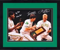 "Framed Larry Bird, Robert Parrish & Kevin McHale Boston Celtics Autographed 16"" x 20"" Photograph"