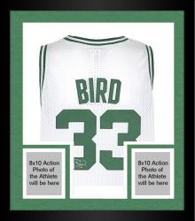 Framed Larry Bird Boston Celtics Autographed adidas Swingman White Jersey