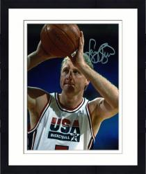 Framed Larry Bird USA Team Autographed 8'' x 10'' Closeup Photograph