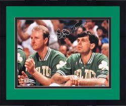 "Framed Larry Bird/Kevin McHale Autographed 16"" x 20"" Horizontal Bench Photograph"