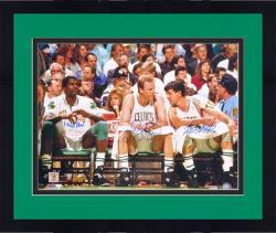 "Framed Larry Bird/Robert Parrish/Kevin McHale Autographed 16"" x 20"" Bench Photograph"