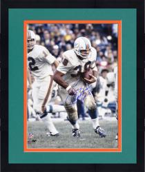 Framed Larry Csonka Miami Dolphins Autographed 16'' x 20'' Action Photograph with HOF 87 Inscription