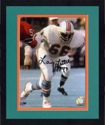 "Framed Larry Little Miami Dolphins Autographed 8"" x 10"" Action Photograph with HOF 93 Inscription"