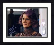 "Framed Laura Dern Star Wars The Last Jedi Autographed 8"" x 10"" as Vice Admiral Holdo Photograph - BAS"