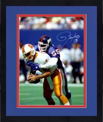 "Framed Lawrence Taylor New York Giants Autographed 16"" x 20"" QB Sack Photograph"
