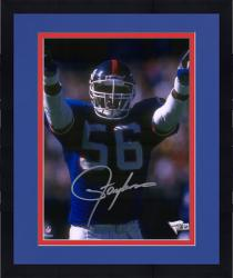 "Framed Lawrence Taylor New York Giants Autographed 8"" x 10"" Hands Pointed Photograph"
