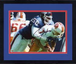 "Framed Lawrence Taylor New York Giants Autographed 8"" x 10"" QB Sack Photograph"