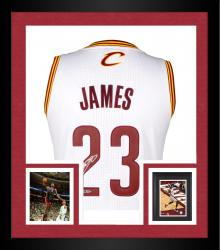 Framed LeBron James Cleveland Cavaliers Autographed Authentic White Jersey