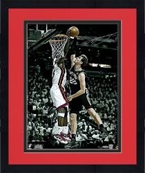"Framed LeBron James Miami Heat 2013 Back to Back Autographed 16"" x 20"" The Block Photograph-Limited Edition of 100"